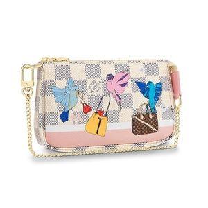 😍Louis Vuitton Mini Pochette/Damier Azur Canvas